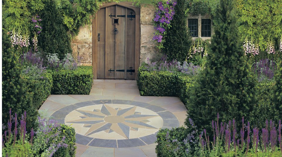 Garden Stone Circles Circles centre pieces 086 vintage stone compass points with manor paving workwithnaturefo